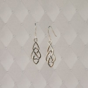 Sterling Silver Celtic Heart Drop earrings