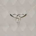 Sterling Silver Celtic Love Knot Pendant with Gem