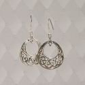 Sterling Silver Celtic Loop earrings