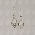 Sterling Silver Drop Bow Knot earrings