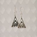 Sterling Silver Celtic trioangle earrings