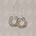 Sterling Silver Celtic circle earrings