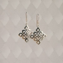 Sterling Silver Celtic Diamond Knot earrings