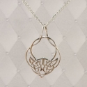 Sterling Silver Celtic Open Bow Knot Pendant