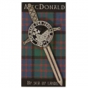 Kilt Pin - Sword with Clan Shield